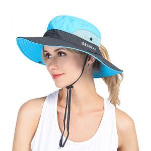 Sombrero Bonnie Ala Ancha Plegable con Cordon Senwai