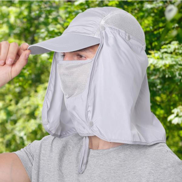 Gorro Jockey Antifaz Legionario Desmontable Protección 360°