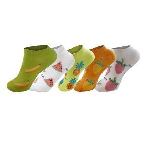 Calcetines Algodón Cortos Diseños Divertidos Pack 5 pares