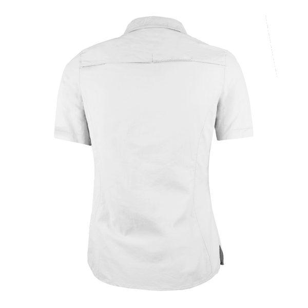Camisa Trekking Manga Corta Blanco Mujer