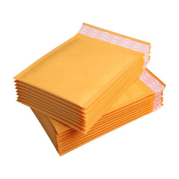 50 Sobres Papel Kraft Amarillo Burbujas Autosellante 9x13cm