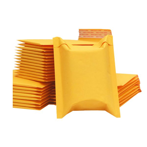 50 Sobres Papel Kraft Amarillo Burbujas Autosellante 30x30cm
