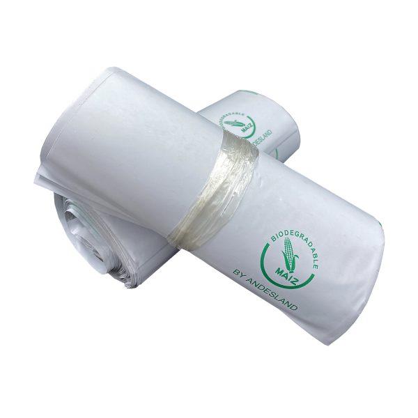 100 Bolsas Biodegradables de Courier Autoadhesivas 20x30cm